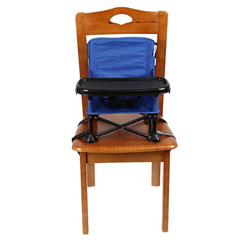 เด็กทารกแบบพกพา Booster ที่นั่งพับเก้าอี้เด็กพร้อมถาดและกระเป๋าเก้าอี้ Camping ท่องเที่ยวเด็กที่นั่ง