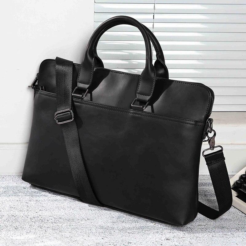 Men Briefcase Bag High Quality Business Famous Brand Leather Shoulder Messenger Bags Office Handbag 15 Inch Laptop