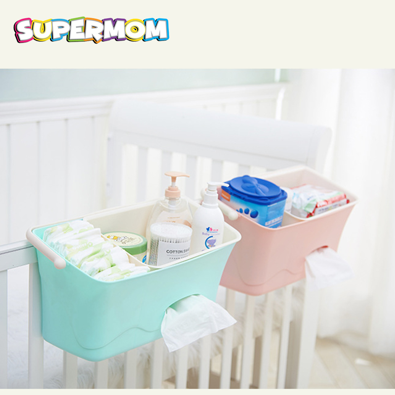Baby Crib Cot Bed Bedside Hanging Storage Bag Diaper Nappy Organizer Pocket