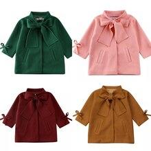 Новинка года; зимнее теплое пальто с бантом для маленьких девочек; Верхняя одежда; куртка-парка; Свободное пальто; Размер От 3 до 8 лет