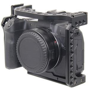 Image 2 - FFYY カメラケージキヤノン Eos R とコールドシューマウント穴マジックアームマイク添付