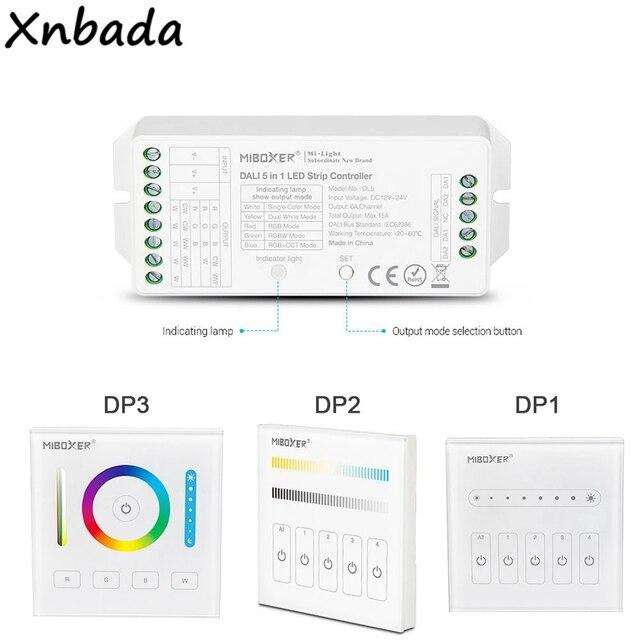 Milight DALI 5 IN 1 LED Strip Controller DP1 Brightness Dimming Panel DP2 Color Temperature Dimming Panel DP3 RGB+CCT Dimming