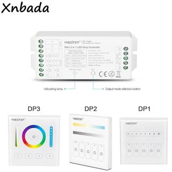 Milight DALI 5 w 1 kontroler taśmy ledowej DP1 Panel przyciemniania jasności DP2 Panel przyciemniania temperatury barwowej DP3 RGB + CCT ściemnianie tanie i dobre opinie Xnbada CN (pochodzenie) MiBoxer DL5 DP1 DP2 DP3 5 IN 1 LED Strip Controller Kontroler rgb 3years ROHS Common anode 12-24 v