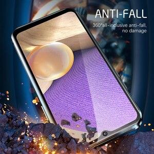 Image 5 - Samsung A32 5G durumda 360 manyetik Flip Case Samsung Galaxy A 32 A32 5G 32A çift taraflı temperli cam telefon kapakları Coque