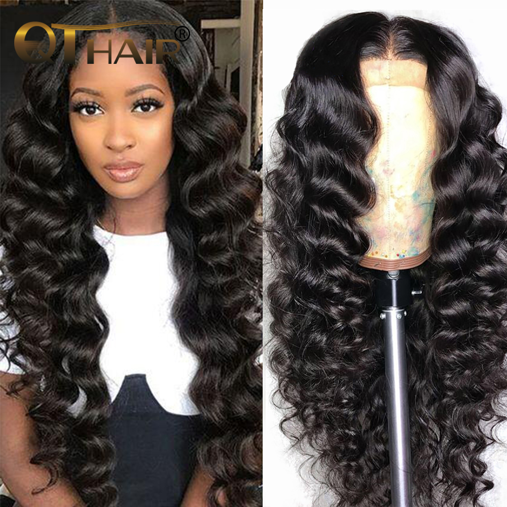 180% 360 Lace Frontal Wig For Black Women Loose Deep Wave 13x4 Lace Front Human Hair Wigs Remy QT Hair 13x6 Wig