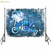 Sunsfun Photography Background Winter Christmas Backdrop Merry Christmas Photo Studio Photophone Photocall Props Multi-Style 5X7