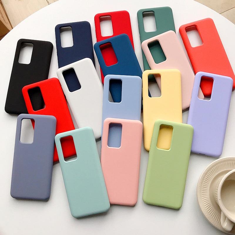 Case For Samsung Galaxy S20 Ultra S10 Lite S10E A10 A20 A30 A50 A70 A20E A21S A30S A31 A51 A71 Note 20 PIus Colorful Soft Cover(China)