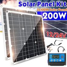 100W Панели солнечные комплект 40A контроллер 18V Портативный Батарея Зарядное устройство Мощность банк борт автомобиля Зарядное устройство дл...