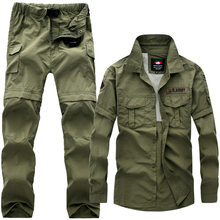 Uniformes tácticos militares para hombre, monos con múltiples bolsillos extraíbles, Pantalón Cargo informal de algodón, trajes tácticos de camuflaje, S-5XL
