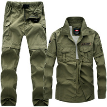 New Military Mens Tactical Uniforms Removable Multi-pocket Overalls Cotton Casual Cargo Pant Men Camouflage Tactical Suits S-5XL