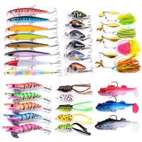 10 141PCS/LOT Mixed Fishing Lure Kit Spoon Jigging Lures Soft Fishing Lures Set Popper Minnow Artificial Crankbait Fishing Kit|Fishing Lures|Sports & Entertainment -