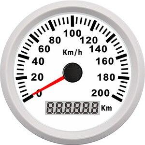 Image 2 - Uniwersalny 85mm prędkościomierz GPS 200 km/h 120 km/h prędkościomierz do samochodu wskaźnik dla ciężarówki łódź morska z podświetleniem 12V 24V dla BMW e39