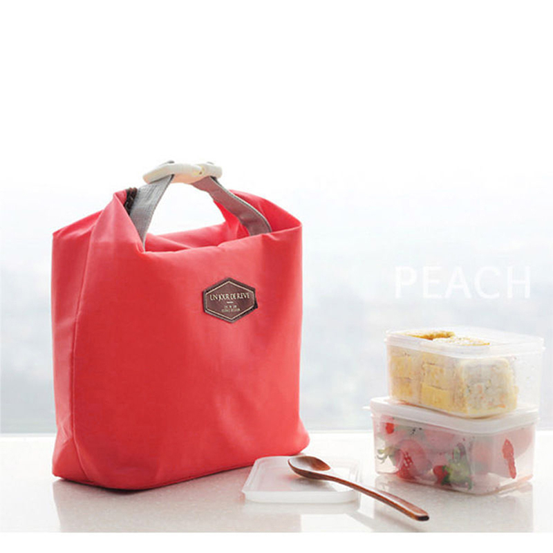 Lunch Bags Portable Lunchbox Storage Bag Cooler Tote Insulated Canvas Lunch Bag Thermal Food Picnic Bento Package