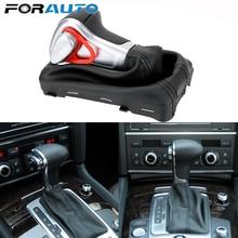Chrom skórzana Auto automatyczne dla AUDI A6 A7 A3 A4 A5 A6 c6 Q5 2009 2010 2011 2012 2014 4G1 713 139 R gałka zmiany biegów