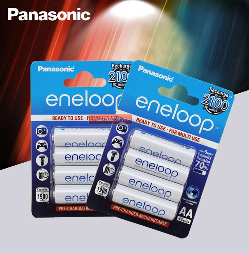 8pc Panasonic Eneloop 100% Original AA Rechargeable Battery 1.2v 1900mAh Pre-charged Ni-MH Batteries For Camera Flash/Toys