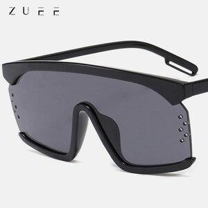 Zuee óculos de sol oversized para mulher moda 2020 marca designer grande quadro quadrado óculos de sol uv400 proteção tons para mulher