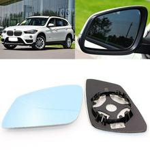 For BMW X1 2010-2017 Side View Door Mirror Blue Glass With Base Heated 1pair l r door wing mirror glass heated blue left right side for bmw x5 e53 99 06 3 0i 4 4i car styling rearview mirror heating