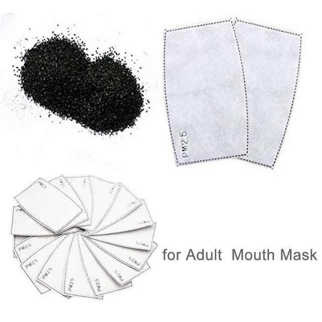 100PCS 5-layer Protective Filter Mask Filter PM2.5 Child Mask Chip Dustproof Haze Prevention US  CZ BE Fast Delivery 2