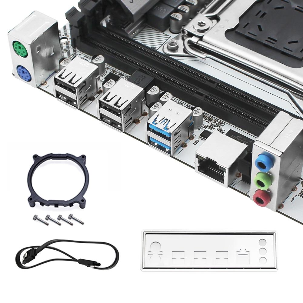 JGINYUE X99 Motherboard LGA 2011-3 set kit with 16GB 2*8GB DDR4 RAM XEON E5-2620 V3 Processor NVME M.2 SATA 3.0 X99M-PLUS D4 6