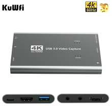Carte de Capture KuWFi 1080p 60fps pour la diffusion en direct HDMI vers USB 3.0 4K carte de Capture pour Xbox One, PS4, Wii, Nintendo Switch