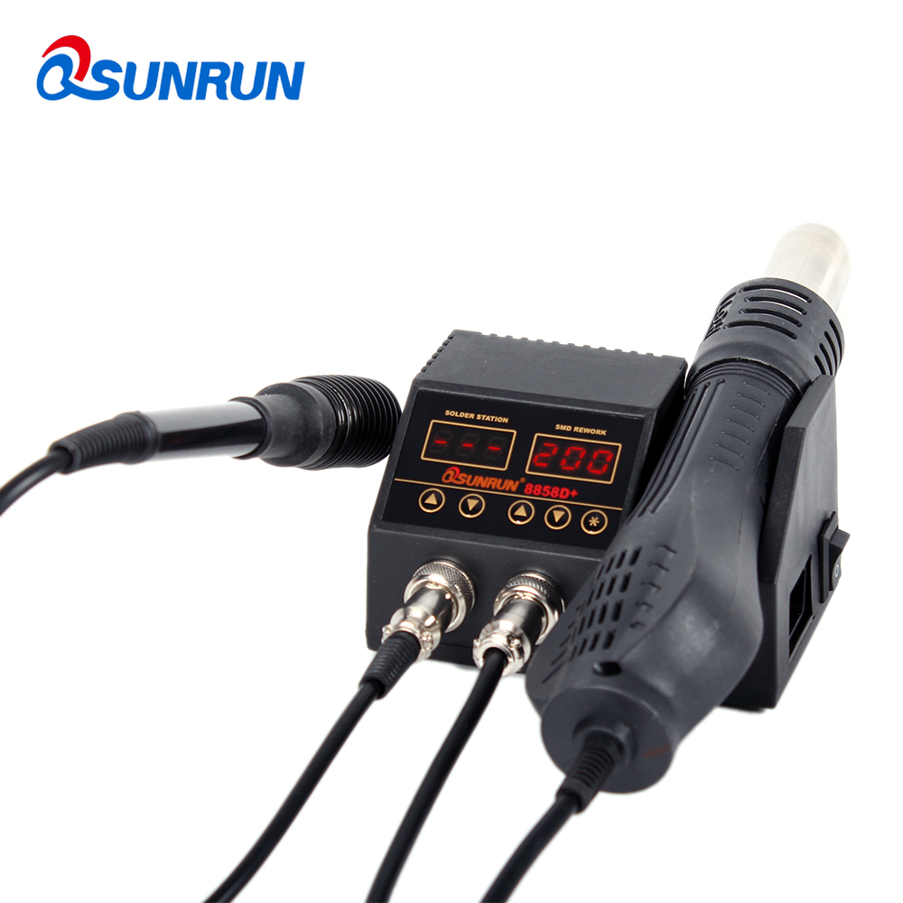 Soldering Version   Of 1 Rework Station Soldering 8858D Digital Station Iron In 88582 Hot PlusUpgraded SMD Air Display  8858D