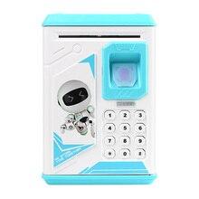 1pc Creative Fingerprint Electronic Piggy Bank ATM Password Money Box Cash Coin Saving Box For Kids Birthday Christmas Gift