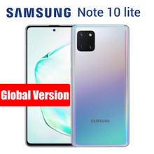 Samsung galaxy note 10 lite n770f/ds 8gb 128gb, telefone celular versão global smartphone frontal 32mp dual sim nfc