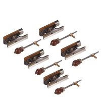 Pack of 5 sets Fiddle Violin Bow Frog & Screw Set Cattle Horn Material with Beautiful Pattern for 4/4 Violin Bow Violin Parts