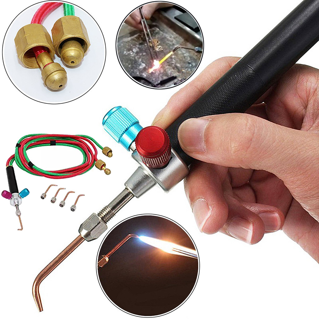 Welder Set Gas Oxygen Welding Torch Acetylene Cutting Kit Fr Jewelry Dental Tool
