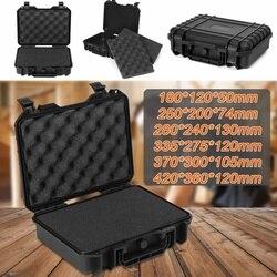 Большой размер, водонепроницаемый жесткий чехол для переноски, сумка, наборы инструментов с губкой, коробка для хранения, защита для безопа...