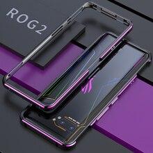 高級アルミニウム金属バンパーケース Asus Rog 電話 2 ZS660KL スリム金属耐衝撃フレーム Coque Rog2 電話ネジツール