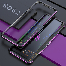 الفاخرة الألومنيوم معدن الوفير جراب إيسوز Rog الهاتف 2 ZS660KL سليم المعادن للصدمات الإطار Coque Rog2 الهاتف مع أداة المسمار