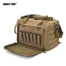 Sac d'entraînement tactique, accessoire de chasse, système Molle, imperméable 600D, pour arme à feu, portée de tir, sac à outils kaki, Camping