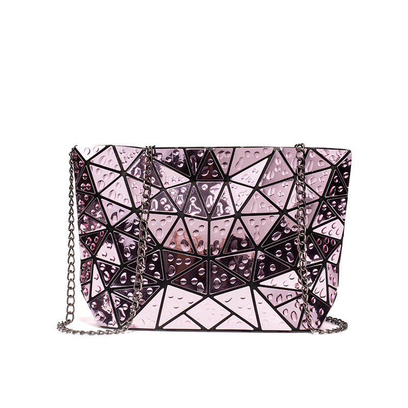 Ladies Geometric Holographic Crossbody Bag Water Drop Accent 2