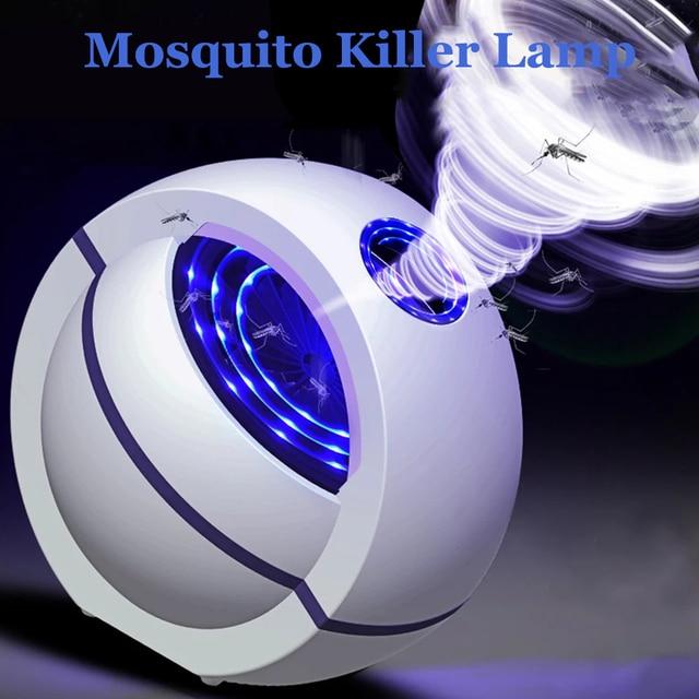 USB מופעל יתושים רוצח מנורת חשמלי אנטי יתושים lampara antimosquitos 360 ° חרקים רוצח קוטל יתושים מלכודת אור