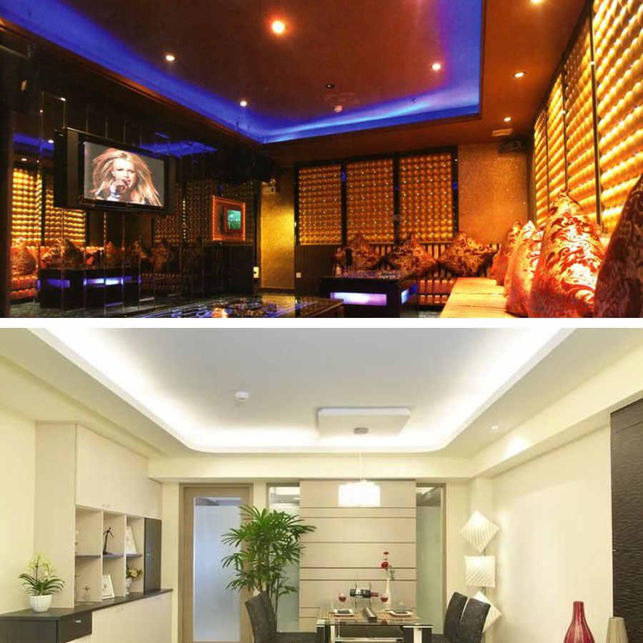 12V 24 V LED listwa oświetleniowa SMD 5050 RGB RGBW RGBWW wodoodporna 60 led/s 5 M 12 24 V Volt LED diody na wstążce lampa wstążka podświetlenie tv