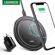 Chargeur sans fil Ugreen pour iPhone 12X8 XS XR 10W Qi chargeur sans fil QC 3.0 pour Samsung S9 Note 9 chargeur sans fil rapide
