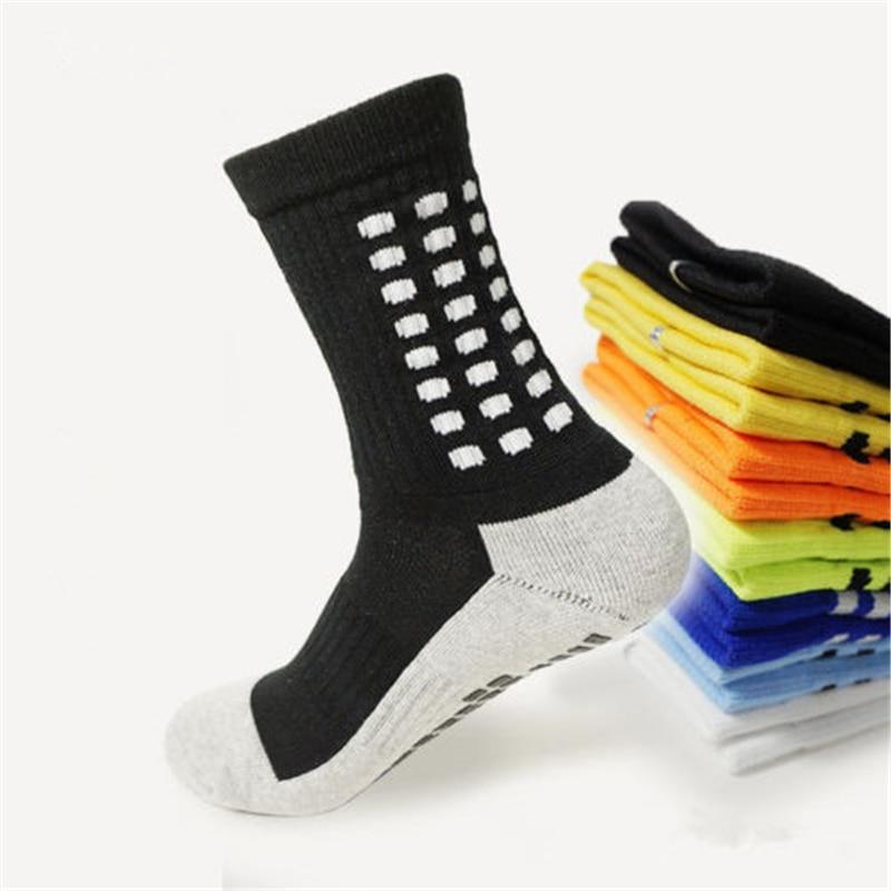 Футбольные носки, противоскользящие футбольные носки, мужские спортивные носки, высокое качество, хлопок, Calcetines того же типа, что и The trucox, 10 ...