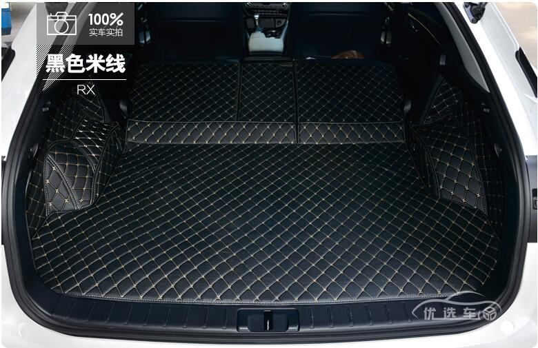 3D Luxury Full Rear Trunk Tray Liner Cargo Mat Protector Pad Mats For <font><b>LEXUS</b></font> <font><b>RX</b></font> RX200T RX450H 2016 2017 2018 <font><b>2019</b></font> 2020 Year image