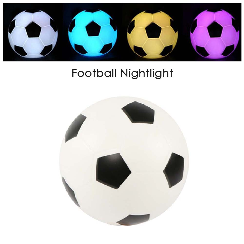Color Changing Night Light Soccer Sports Fans Gift Football Night Light LED Nightlight Mood Wedding Party Home Decor Accessory
