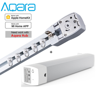 Customizable Super Silent Electric Curtain track and Aqara motor Curtain rail control system for Zigbee Mija app Smart Home автомобильная шина michelin pilot alpin 5 255 40 r20 101v зимняя