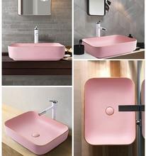 Phnom Penh Pink Creative Wash Basin Single Bowl Above Counter Ceramic Basin Art Toilet Home Hotel Wash Basin Bathroom Sink