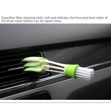 1x Dust Green Brush Keyboard Blind Cleaner Air Conditioner Brush