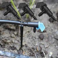 500 ピース/パック 4L 8L 16L/H 旗ドリップエミッタ出口バーブマイクロチューブ点滴灌漑継手ドリッパー分解 n206