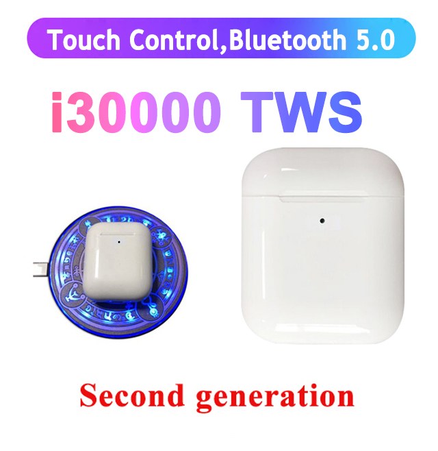 i30000 <font><b>TWS</b></font> second generations Wireless Earphone Sensor Inteligente 8D Super Bass pk i2000 i3000 i800 i100 i500 <font><b>i9999</b></font> i9000 <font><b>tws</b></font> image