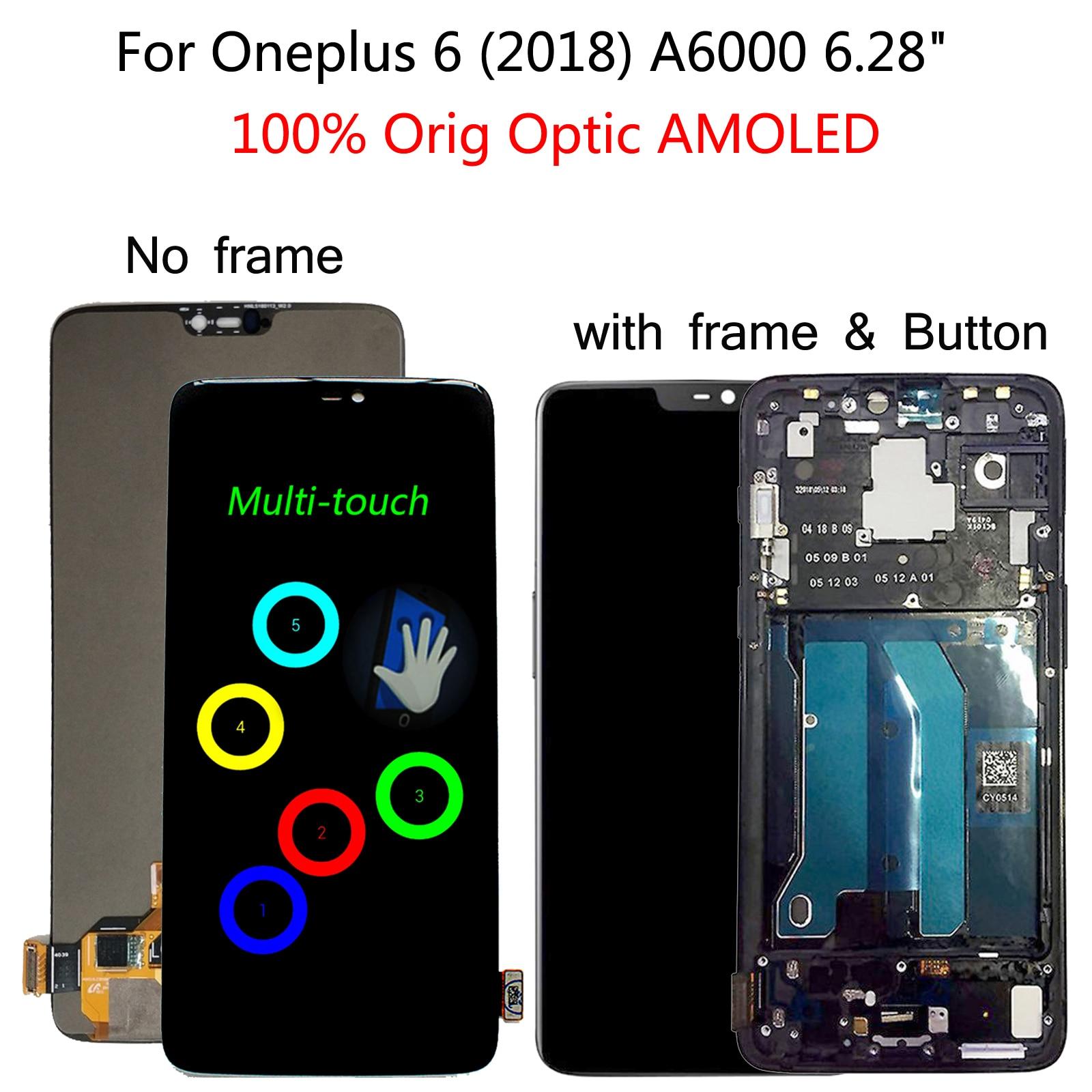 """מיכל אסלה חרסה Shyueda רי""""י עבור OnePlus 6 1 + 6 (2018) A6000 6.28"""" Digitizer מסך מגע תצוגה LCD עם כלים (1)"""