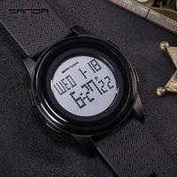 Hohl Mesh Gürtel Männer Uhren SANDA Mode Sport Uhr Schock Elektronische für Frauen Trend Leben Wasserdicht Led Digital Watchwrist