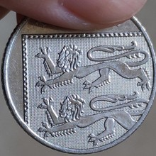 24 мм британская, настоящая монета, оригинальная коллекция