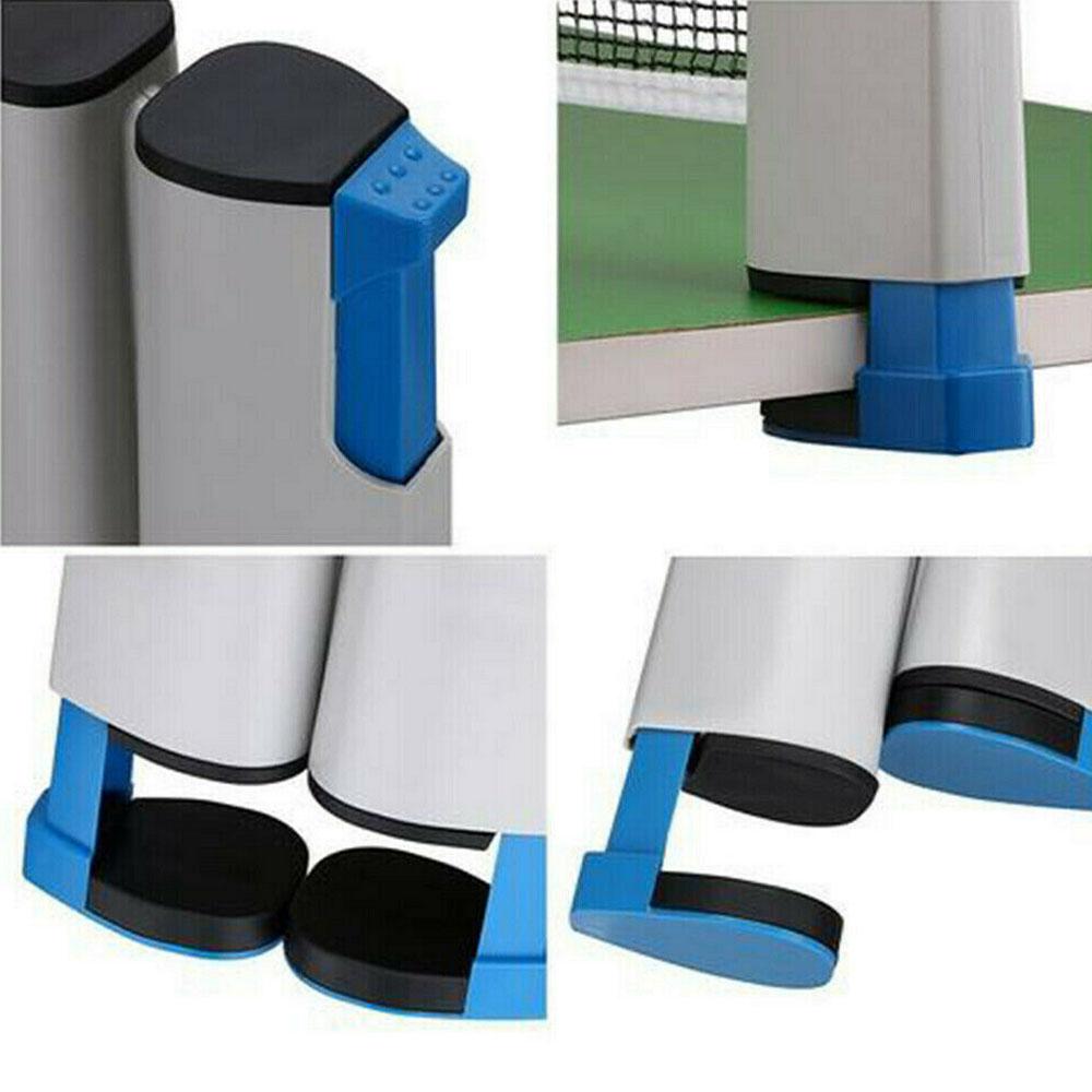 Le Jeune moderne.Activités plein air-Filet de ping pong portable adaptable jusqu'à 1m70 et plateau de 5cm maximum-Filet portable pour tennis de table (Ping-Pong). Peut être utilisé sur toute table du maximum de 5cm et d'une largeur maximum de 1m70. Sortez les raquettes et défoulez vous où bon vous semble.