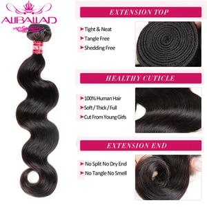 Image 3 - Aliballad Brazilian Hair Weave Bundles Body Wave Hair 4 Pcs/Lot Remy Hair Extensions Natural Color 100% Human Hair Weaving